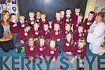 BIG SCHOOL: The new junior infants class who started big school on Monday in Holy Family NS, Tralee were Kieran Areliano, Dylan Browne, Georgia Browne, Sea?n Collins, Breda Cronin, Darragh Duffy, Ben Hanafin, Daniel Hennessy, Hennikas Janusaukas, Conor Kerins, Ryan Brosnan, Cillian Lynch, Jake McBride, Sabhadh McMahon, Alysha McQuinn, Aaliyah Mulumba, Darragh O'Connor, Robert O'Connor, Kasper Pasierb, Josh Quilter, Richard Raymond and Hassan Saiful with teachers Mary Kerins (left) and Phil Moriarty (right).