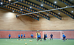 Rangers training indoors today