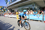 Andrey Zeits (KAZ) Astana Pro Team during Stage 1 of the La Vuelta 2018, an individual time trial of 8km running around Malaga city centre, Spain. 25th August 2018.<br /> Picture: Ann Clarke | Cyclefile<br /> <br /> <br /> All photos usage must carry mandatory copyright credit (© Cyclefile | Ann Clarke)