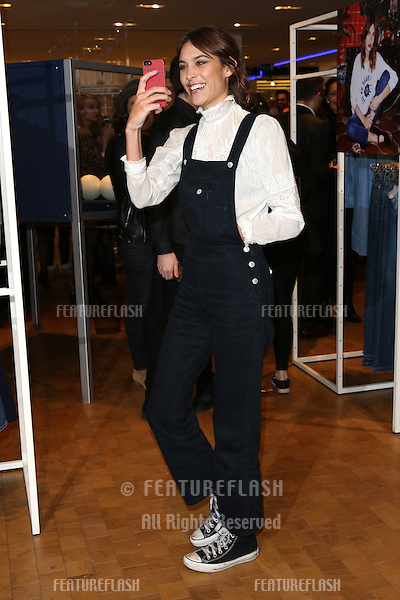 Alexa Chung launches her AG jeans collaboration at Selfridges - photocall, London. 15/01/2015 Picture by: James Smith / Featureflash
