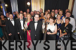 Edmond Harty with Staff and Family of Dairymaster celebrating winning the International and Overall awards at the Ernst & Young Entrepreneur awards in Citywest Hotel, Dublin on Thursday Night.