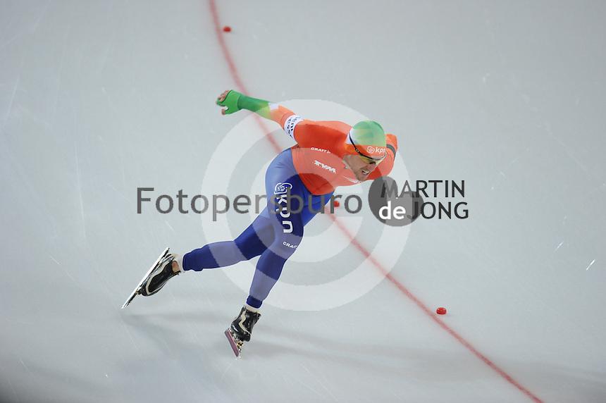 SCHAATSEN: HAMAR: Vikingskipet, 11-01-2014, Essent ISU European Championship Allround, 500m Men, Douwe de Vries (NED), ©foto Martin de Jong