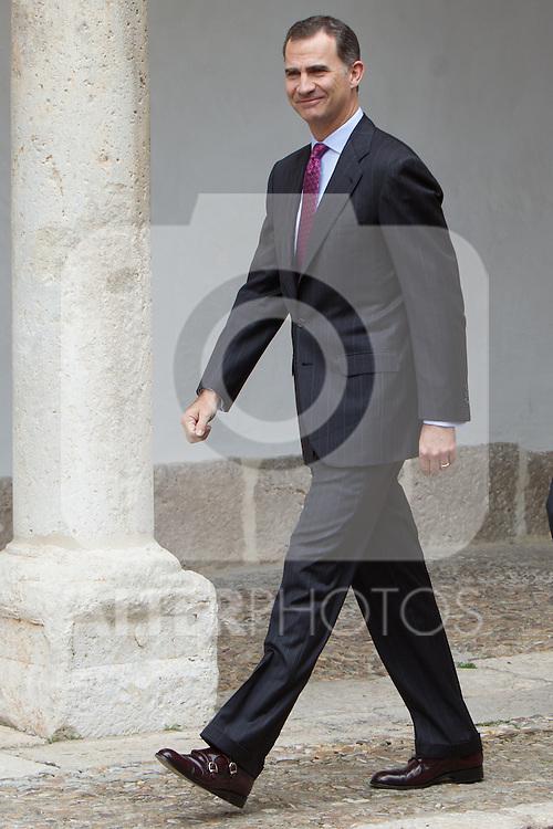 Spanish king, Felipe VI arrives at the Quevedos, an  iberoamerican award of grafic humor 2014. May 26,2016. (ALTERPHOTOS/Rodrigo Jimenez)