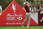 Henrik Stenson tees off on the 8th on day two of the Abu Dhabi HSBC Golf Championship 2011, at the Abu Dhabi golf club, UAE. 21/1/11..Picture Fran Caffrey/www.golffile.ie.