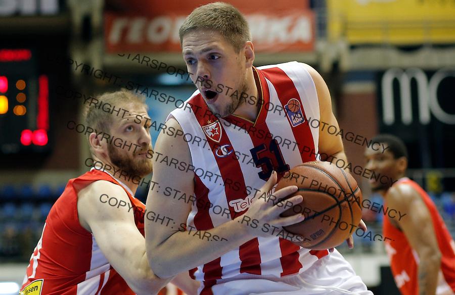 Vladimir Stimac Crvena Zvezda - Cedevita kosarka ABA regionalna liga 4.1.1016. Januar 4. 2016. (credit image & photo: Pedja Milosavljevic / STARSPORT)