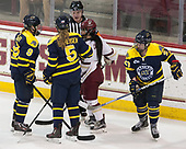 Dominique Kremer (Merrimack - 9), Paige Sorensen (Merrimack - 5), Kristyn Capizzano (BC - 7), Allison Sexton (Merrimack - 27) - The number one seeded Boston College Eagles defeated the eight seeded Merrimack College Warriors 1-0 to sweep their Hockey East quarterfinal series on Friday, February 24, 2017, at Kelley Rink in Conte Forum in Chestnut Hill, Massachusetts.The number one seeded Boston College Eagles defeated the eight seeded Merrimack College Warriors 1-0 to sweep their Hockey East quarterfinal series on Friday, February 24, 2017, at Kelley Rink in Conte Forum in Chestnut Hill, Massachusetts.