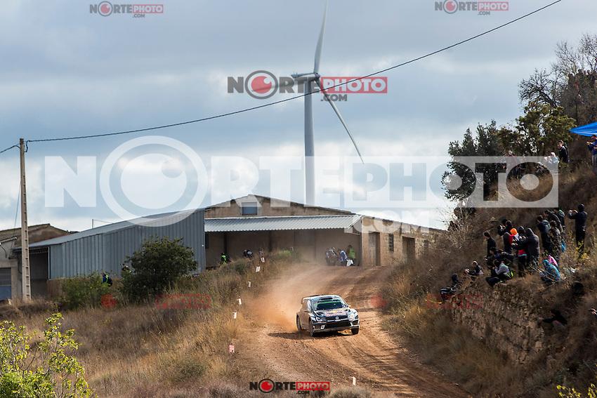 Sébastien Ogier/Julien Ingrassia (Volkswagen Polo R WRC) during the World Rally Car RACC Catalunya Costa Dourada 2016 / Rally Spain, in Catalunya, Spain. October 15, 2016. (ALTERPHOTOS/Rodrigo Jimenez) NORTEPHOTO.COM
