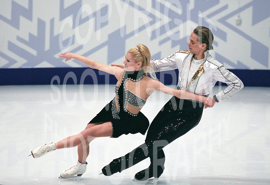 Shae-Lynn Bourne and Victor Kraatz Canada. 2002 Olympics Salt Lake City. Photo Eileen Langsley