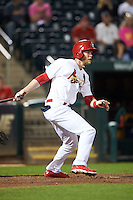 Springfield Cardinals outfielder Jeremy Hazelbaker (26) at bat during a game against the Frisco RoughRiders  on June 3, 2015 at Hammons Field in Springfield, Missouri.  Springfield defeated Frisco 7-2.  (Mike Janes/Four Seam Images)