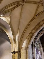 Gotisches Deckengewölbe, Dom St. Martin in Bratislava, Bratislavsky kraj, Slowakei, Europa<br /> Gothic ceiling vault in Cathedral St. Martin, Bratislava, Bratislavsky kraj, Slovakia, Europe