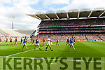 Teams parade before Kerry v Mayo All Ireland Semi Final Replay in Croke Park on Saturday.