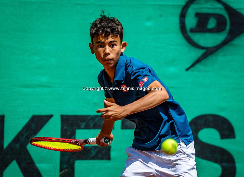 Hilversum, Netherlands, Juli 29, 2019, Tulip Tennis center, National Junior Tennis Championships 12 and 14 years, NJK, Noah Pawirodirjo (NED)<br /> Photo: Tennisimages/Henk Koster