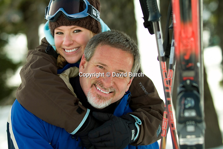 Father with daughter, smiling, portrait
