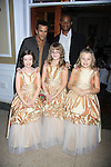 "Evelyn, Abigail and Jenna (a part of Queen Pomona's Court) pose with General Hospital's Scott Reeves ""Dr. Steven Lars Webber"" is the Celebrity Grand Marshal and Sports Celebrity Virginia Tech, NFL, WFL wide receiver Shawn Scales at the 33rd Annual Mountain State Apple Harvest Festival (MSAHF) 2012 on October 20, 2012 at the Queen's Grand Ball at the Historic Shenandoah Hotel in Martinsburg, West Virginia. (Photo by Sue Coflin/Max Photos)"