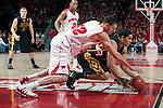 March 3, 2010: Wisconsin Badgers forward Keaton Nankivil (52) battles for a loose ball during a Big Ten Conference NCAA basketball game against the Iowa Hawkeyes at the Kohl Center on March 3, 2010 in Madison, Wisconsin. The Badgers won 67-40. (Photo by David Stluka)