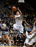 Brandon Smith of California shoots the ball during the game against Oregon at Haas Pavilion in Berkeley, California on February 16th, 2012.  California defeated Oregon, 86-83.