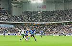 Stockholm 2015-05-30 Fotboll Allsvenskan Hammarby IF - Halmstads BK :  <br /> Vy &ouml;ver Tele2 Arena med publik p&aring; l&auml;ktarna under matchen mellan Hammarby IF och Halmstads BK <br /> (Foto: Kenta J&ouml;nsson) Nyckelord:  Fotboll Allsvenskan Tele2 Arena Hammarby HIF Bajen Halmstad Halmstads BK HBK inomhus interi&ouml;r interior supporter fans publik supporters