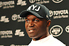 New York Jets Head Coach Todd Bowles speaks to the media after team practice at the Atlantic Health Jets Training Jets Training Center in Florham Park, NJ on Wednesday, Dec. 30, 2015.