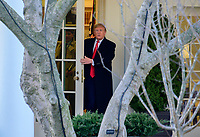 United States President Donald J. Trump exits the Oval Office as he departs the White House in Washington,DC en route to Toledo, Ohio to deliver remarks at a Keep America Great Rally on Thursday, January 9, 2020. <br /> Credit: Ron Sachs / CNP/AdMedia