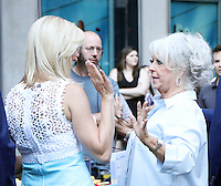 NEW YORK, NY-July 06: Lee Carter, Paula Deen  cooking for National Fried Chicken Day at Fox & Friend in New York. NY July 06, 2016. Credit:RW/MediaPunch