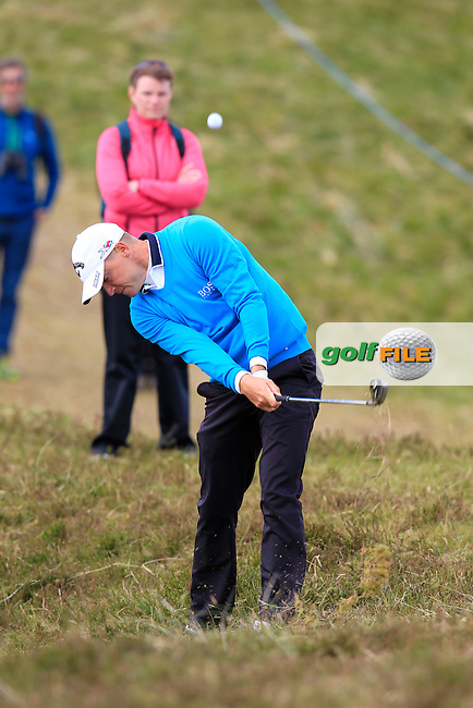 Alex NOREN (SWE) plays his 2nd shot from the rough on the 6th hole during Saturday's Round 3 of the 2015 Dubai Duty Free Irish Open, Royal County Down Golf Club, Newcastle Co Down, Northern Ireland 5/30/2015<br /> Picture Eoin Clarke, www.golffile.ie