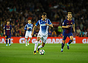 9th September 2017, Camp Nou, Barcelona, Spain; La Liga football, Barcelona versus Espanyol; Leo Baptistao breaks into the box