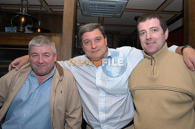 Tony Ward, Brian Browning and Benny Farrell having a night out in Redz. Photo: Colin Bell Newsfile.