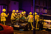 Car crash and rescue Grantham Road Birmingham
