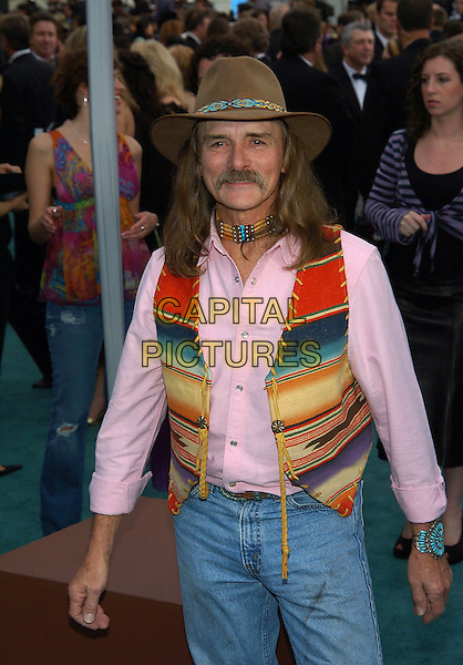 DICKY BETTS.47th Annual Grammy Awards - Arrivals. Los Angeles, California .February 13th, 2005.Photo Credit: Jacqui Wong/AdMedia.half length hat mustache facial hair vest native american indian pink shirt.www.capitalpictures.com.sales@capitalpictures.com.© Capital Pictures.