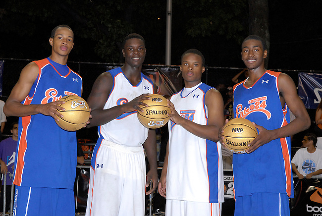 Friday, Aug. 22, 2008 -- Harlem, N.Y. -- MVPs of the ESPN Rise Boost Mobile Elite 24 Game -- Dominic Cheeks, Lance Stephenson, Maalik Wayns and John Wall