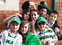 St Patricks Parade Birmingham  11th Mar 07 .Irish Youth By the Custard Factory.