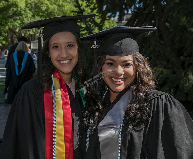 Loren Kulisiak and Bobbi Brown during the University of Nevada College of Agriculture, Biotechnology & Natural Resources and College of Education graduation ceremony on Friday evening, May 19, 2017.