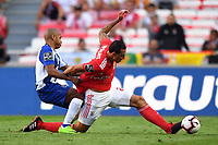 (181008) -- LISBON, Oct. 8, 2018 (Xinhua) -- Cristian Lema (R) of Benfica vies with Yacine Brahimi of Porto during the Portuguese League soccer match between SL Benfica and FC Porto at Luz Stadium in Lisbon, Portugal, Oct. 7, 2018. Benfica won 1-0. (Xinhua/Zhang Liyun) (SP)PORTUGAL-LISBON-SOCCER-LIGA-SL BENFICA VS FC PORTO PUBLICATIONxNOTxINxCHN<br /> Foto Imago/Insidefoto