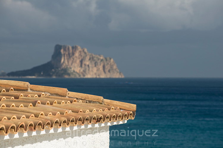 Peñon de Ifach from Altea, Alicante province, Spain