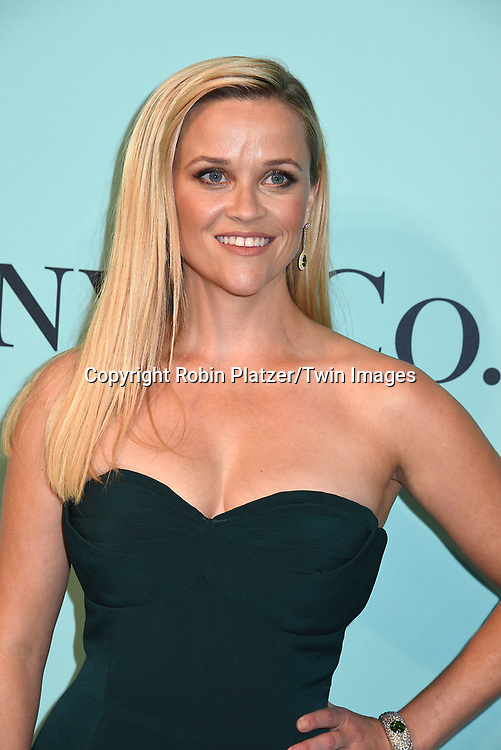 Resse Witherspoon attends the Tiffany &amp; Co 2017 Blue Book Collection on April 21, 2017 at St Ann's Warehouse in Brooklyn, New York, USA.<br /> <br /> photo by Robin Platzer/Twin Images<br />  <br /> phone number 212-935-0770