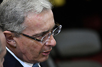 BOGOTÁ -COLOMBIA. 20-07-2017: Alvaro Uribe Velez (Izq) senador durante la ceremonia de instalación de la legislatura 2017 2018 del Congreso de la República de Colombia realizado hoy, 20 de julio de 2017, en el salón Elíptico del Capitolio Nacional de Colombia en la ciudad de Bogotá. / Alvaro Uribe Velez senator during the ceremony of installation of the Legistature 2017 2018 of the Congress of the Republic of Colombia made today, July 20 2017, at Ellipptical room of the National Capitol of Colombia in Bogota city . Photo: VizzorImage/ Gabriel Aponte / Staff