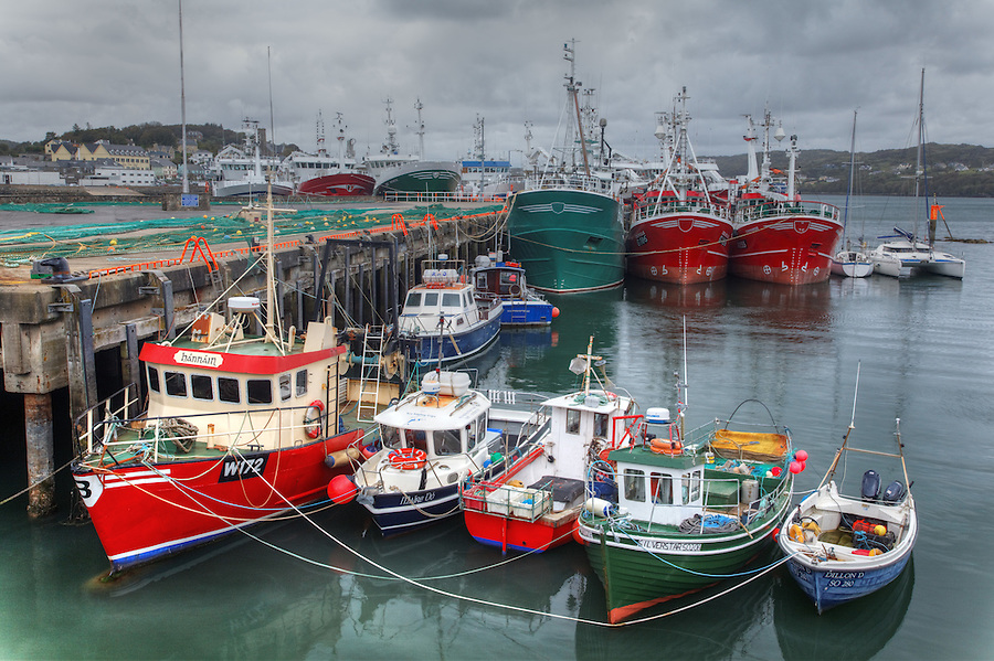 Fishing boats at dock in Killybegs, County Donegal, Republic of Ireland