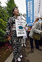 Hundreds rally outside Diet against Abe administration