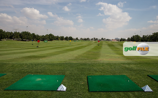 The practice driving area, The Track at The Meydan Golf Club, Dubai, United Arab Emirates.  31/01/2016. Picture: Golffile | David Lloyd<br /> <br /> All photos usage must carry mandatory copyright credit (&copy; Golffile | David Lloyd)