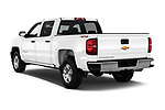 Car pictures of rear three quarter view of 2018 Chevrolet Silverado-1500 1LS-Crew-Cab-Short-Box 4 Door Pickup Angular Rear