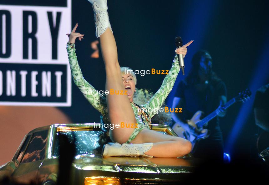 Exclusive : Miley Cyrus in concert at the Sportpaleis in Antwerp, Belgium, on June 20, 2014.<br /> Exclusif : Miley Cyrus en concert au Sportpaleis &agrave; Anvers en Belgique.<br /> 20 juin, 2014.