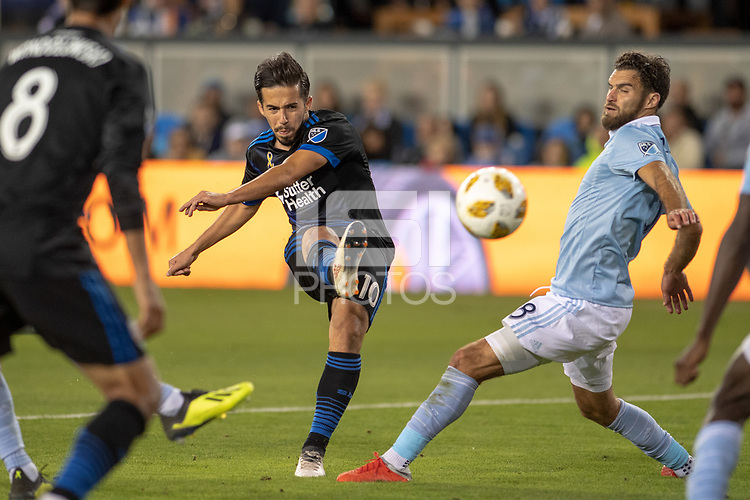 San Jose, CA - Thursday December 31, 2015: Jahmir Hyka during a Major League Soccer (MLS) match between the San Jose Earthquakes and Sporting Kansas City at Avaya Stadium.