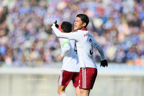 Hayama Tanaka (Yamaga), <br /> FEBRUARY 21, 2015 - Football / Soccer :<br /> 2015 J.League Pre-season match between <br /> Yokohama F Marinos 0-1 Matsumoto Yamaga FC <br /> at Nissan Stadium in Kanagawa, Japan. <br /> (Photo by Yohei Osada/AFLO SPORT) [1156]