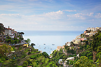 A beautiful day in Positano Italy on the Amalfi Coast.