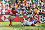 United States vs Argentina during the HSBC Sevens Wold Series Plate Semi Finals match as part of the Cathay Pacific / HSBC Hong Kong Sevens at the Hong Kong Stadium on 29 March 2015 in Hong Kong, China. Photo by Victor Fraile / Power Sport Images