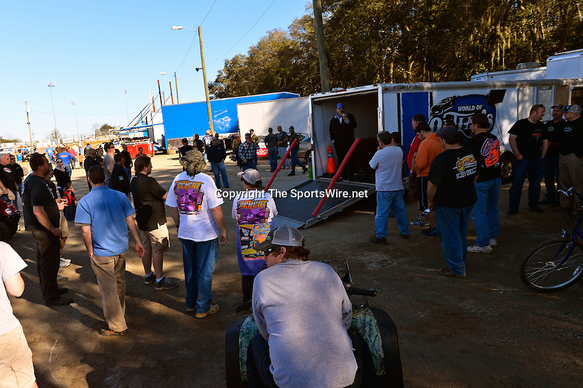Feb 16, 2014; 3:41:43 PM; Ocala, FL., USA; The Third Annual Bubba Army Winter Nationals World Of Outlaws Super Late Models paying $12,000 to win at Bubba RaceWay Park.  Mandatory Credit: (thesportswire.net)