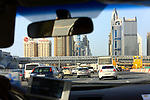 Asie; Golfe Persique; Moyen Orient; Emirats Arabes Unis; Dubai; buildings le long de la Sheikh Zayed Road//Asia; Persian Gulf; Middle East; United Arab Emirates; Dubai; skyscrapers along Sheikh Zayed Road