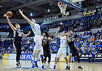 March 1, 2016 - Colorado Springs, Colorado, U.S. -   Utah State forward, Quinn Taylor #22, reaches for a rebound during an NCAA basketball game between the Utah State University Aggies and the Air Force Academy Falcons at Clune Arena, United States Air Force Academy, Colorado Springs, Colorado.  Utah State defeats Air Force 78-65.