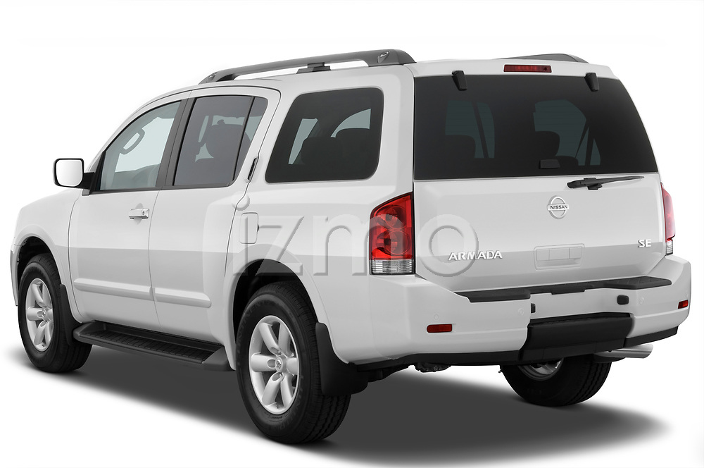 Car pictures of rear three quarter view of a 2010 Nissan Armada SE 5 Door SUV angular rear
