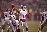 NWA Democrat-Gazette/BEN GOFF @NWABENGOFF<br /> Dak Prescott, Mississippi State quarterback, throws a pass in the fourth quarter against Arkansas on Saturday Nov. 21, 2015 during the game in Razorback Stadium in Fayetteville.